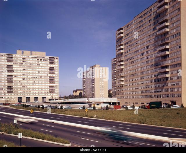 1960s housing stock photos 1960s housing stock images alamy for Spring garden apartments philadelphia
