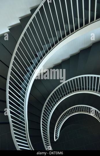 Europe, Switzerland, St. Gallen, stairs, spiral, concepts - Stock-Bilder