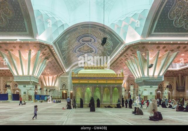 Non Muslim Perspective On The Revolution Of Imam Hussain: Holy Shrine Of Imam Khomeini Stock Photos & Holy Shrine Of