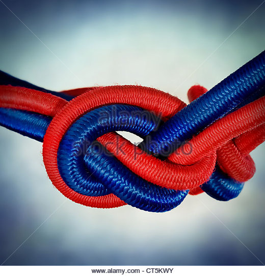 red blue cord - Stock Image