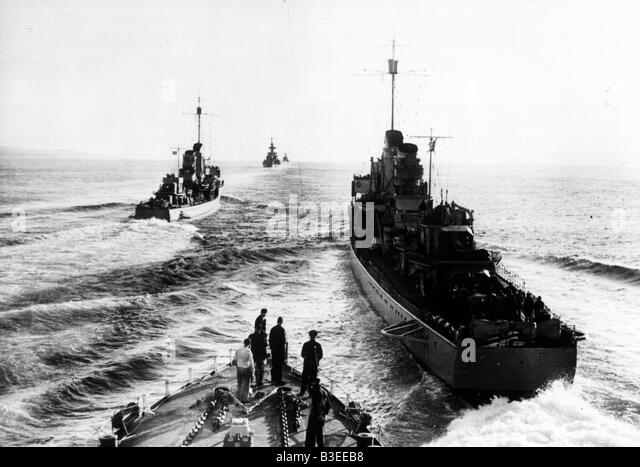 German fleet / World War Two - Stock Image