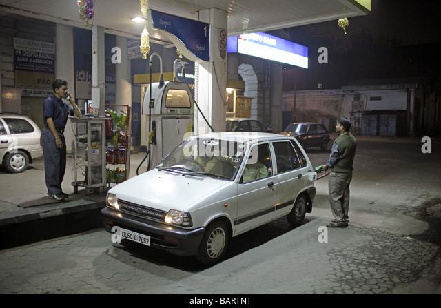 Filling station New Delhi - Stock-Bilder