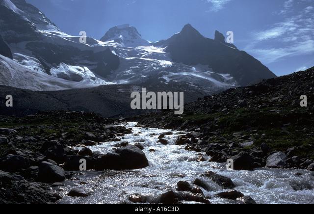 The Tschingelhorn from the Lauterbrunnen Valley, Bernese Oberland, Switzerland - Stock Image