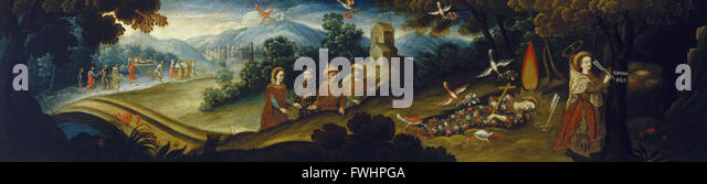 Circle of Diego Quispe Tito - The Legend of Santa Sophronia - Brooklyn Museum - Stock Image