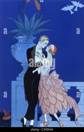 Qui!, from Falbalas & Fanfreluches, by Geroge Barbier. Paris, France, 1925 - Stock-Bilder