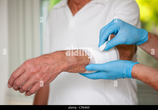 Wound care. - Stock Image