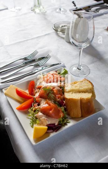 Wedding dinner entree - Stock Image