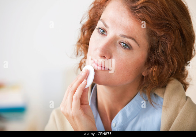 FACE CARE, WOMAN - Stock Image