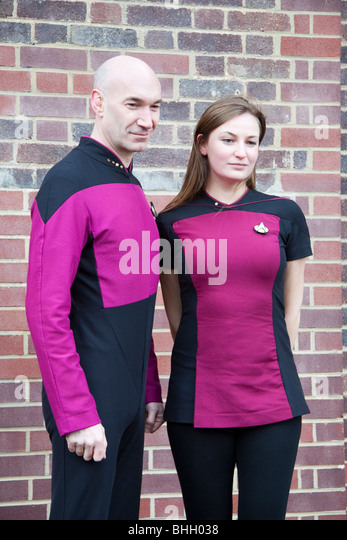 Star Trek fans in London for the world record of the most amount of people dressed as Star Trek characters, England, - Stock Image