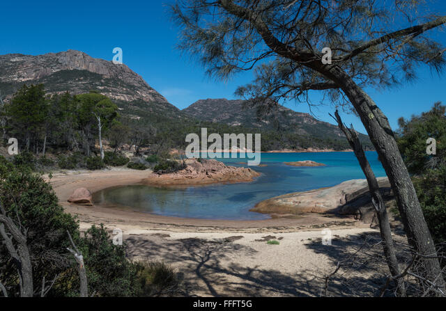 Honeymoon Bay ,Freycinet Peninsula of Tasmania - Stock Image