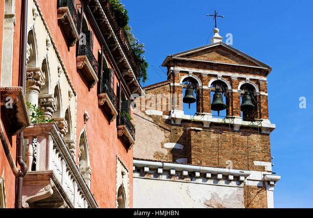 San Maurizio is a Neoclassical-style, deconsecrated church located in the campo San Maurizio in the sestiere of - Stock Image