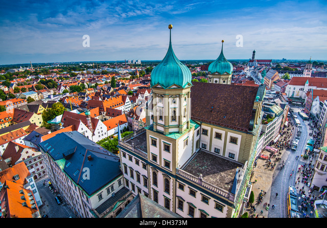Augsburg Germany old townscape. - Stock Image