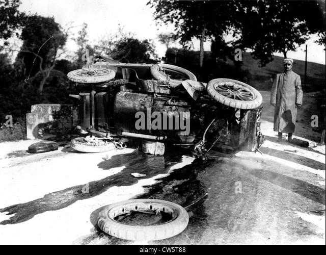 Car accident in Albert la Bastide d'Anjou - Stock Image