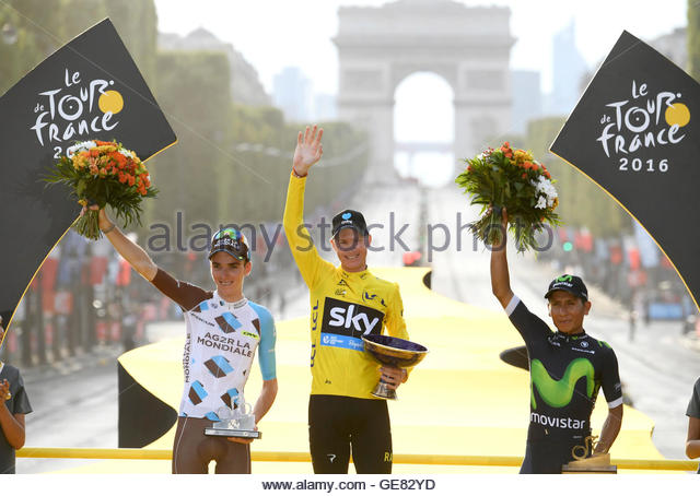 Cycling - Tour de France cycling race - The 113-km (70,4 miles) Stage 21 from Chantilly to Paris, France - 24/07/2016 - Stock Image
