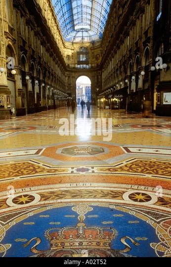 GALLERIA VITTORIO EMANUELE II MILAN ITALY - Stock Image