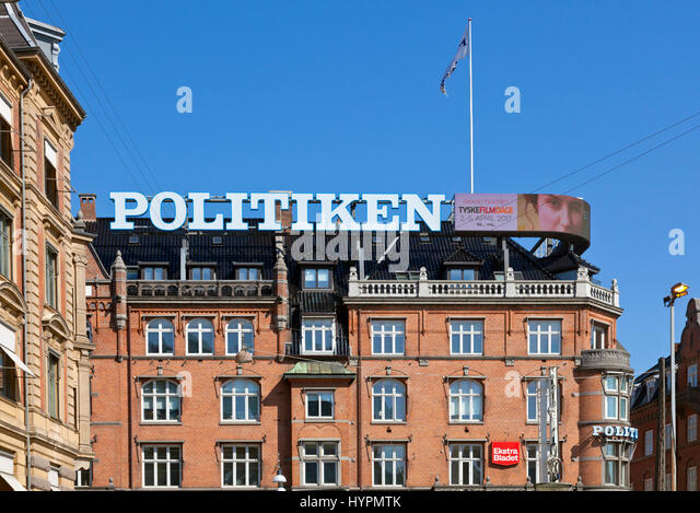 JP/Politikens Hus, House of JP / Politiken - a Danish newspaper and media company at the City Hall Square in Copenhagen, - Stock Image