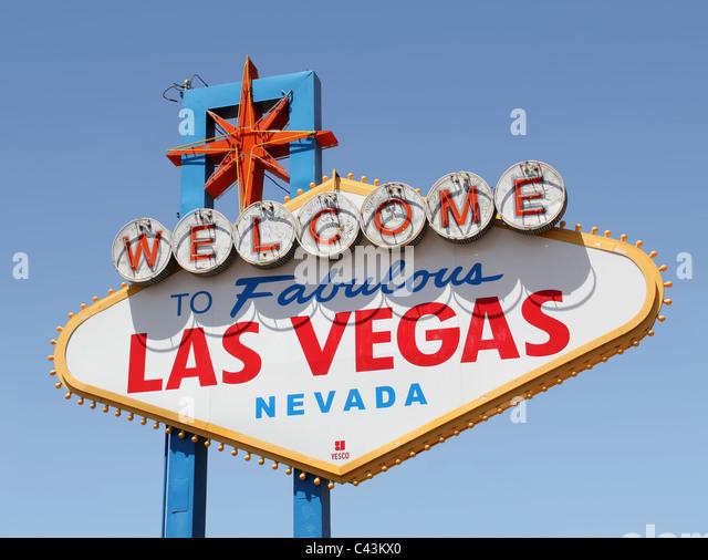 Las Vegas sign - Stock Image