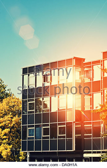 sunny office - Stock Image