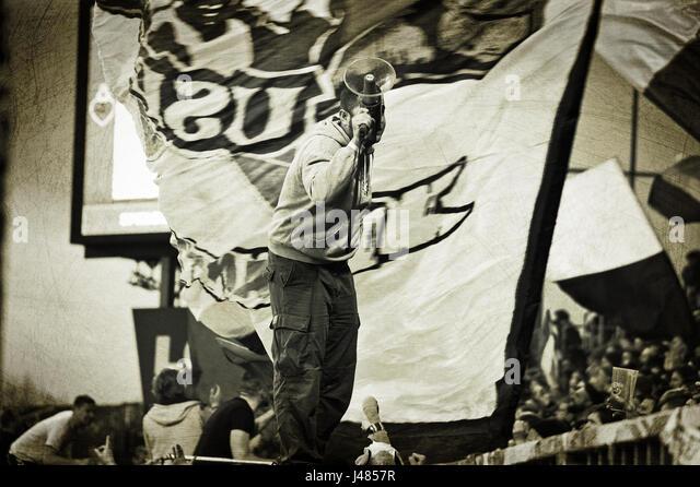 Fankurve FC St. Pauli, Hamburg, Deutschland - Stock-Bilder