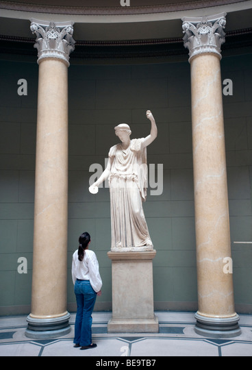 Sculpture in entrance atrium of Altes Museum on Museumsinsel in Berlin Germany - Stock Image