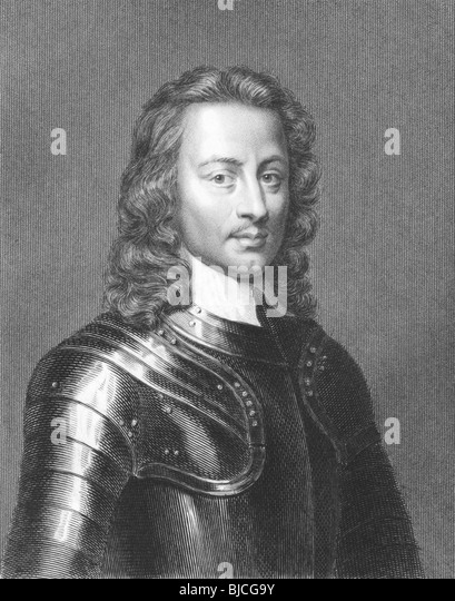 John Hampden (1595-1643) on engraving from the 1800s. English politician. Engraved by J.Pofselwhite from a print - Stock Image