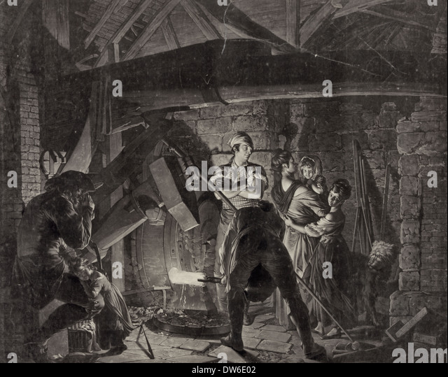 Iron Forge, circa 1850 - Stock-Bilder