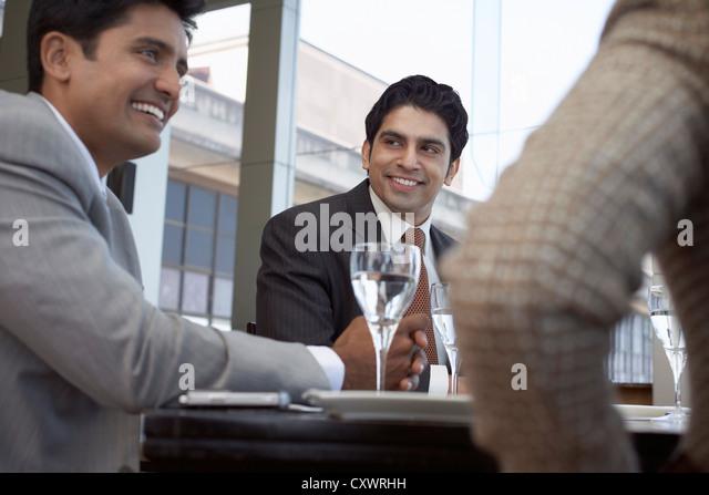 Business people having lunch together - Stock-Bilder