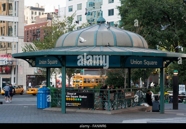 NEW YORK, Union Square subway. Between the 14th and 17th and between Union Square West and East. They started calling - Stock Image