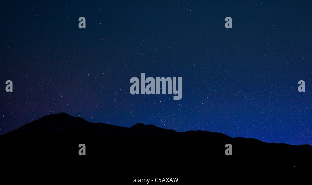 Star filled sky from Poncha Pass, Chaffee County, Colorado, USA - Stock Image
