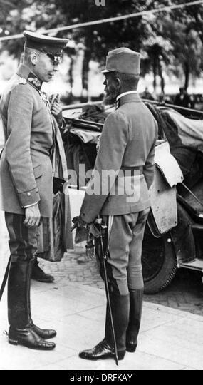 Archduke Josef Ferdinand of Austria and General von Seeckt - Stock Image