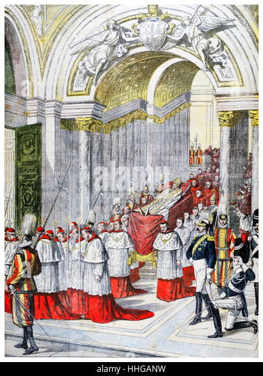 The death of Pope Leo XIII, (born Vincenzo Gioacchino Raffaele Luigi Pecci;. Leo XIII lived from 1810 – 20 July - Stock Image