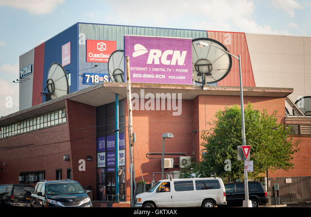 RCN offices in Woodside, Queens in New York on Monday, August 15, 2016. The private-equity firm TPG will buy RCN - Stock Image
