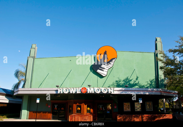 Orlando Florida Howl at the Moon bar nightclub on International Drive - Stock Image