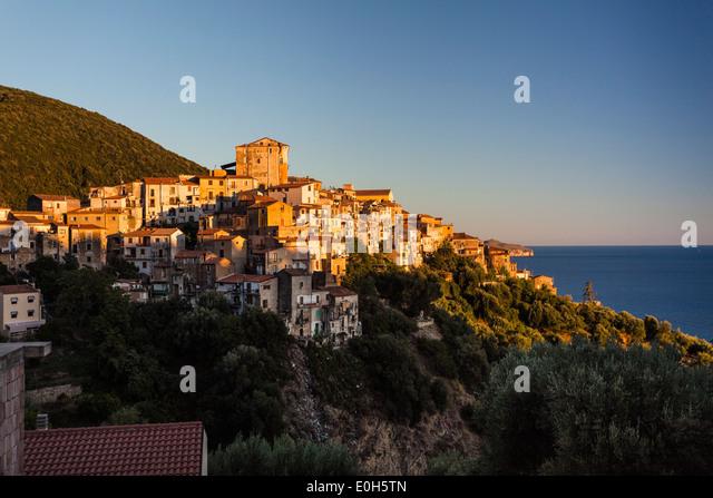 Pisciotta, Cilento, Tyrrhenian Sea, Mediterranean, Southern Italy, Europe - Stock Image