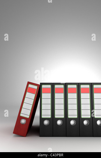 Red ring binder - Stock Image