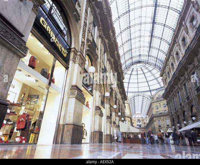 Galleria Vittorio Emanuele MILANO ITALY - Stock Image