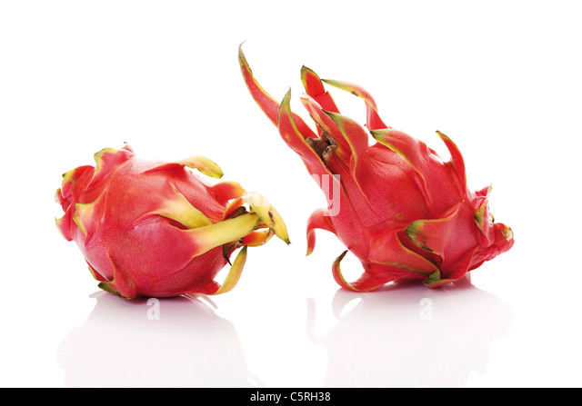 Dragon fruits (Hylocereus undatus) - Stock Image