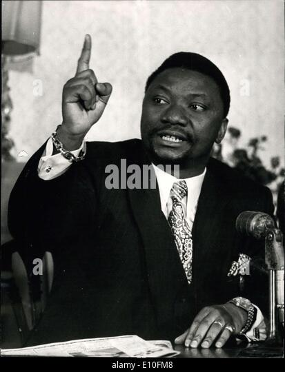 Oct. 02, 1972 - FOREIGN MINISTER OF ZAIRE LEAVES LONDON CLAIMING THAT HE WAS SNUBBED OVER HIS HOTEL BOOKING. MR. - Stock-Bilder
