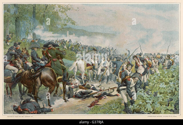 ITALIAN CAMPAIGN Napoleon halts the retreat at  Marengo, where Desaix'  reserves turn seeming defeat  into a - Stock Image