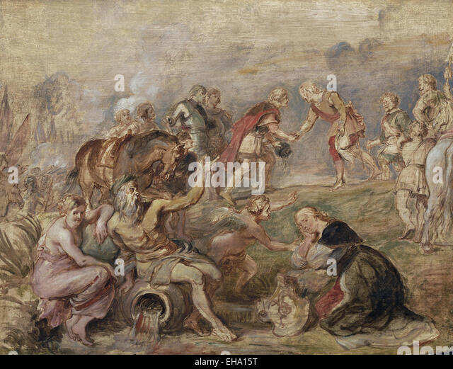 Peter Paul Rubens  Meeting of King Ferdinand of Hungary and Cardinal-Infante Ferdinand of Spain at Nördlingen - Stock Image