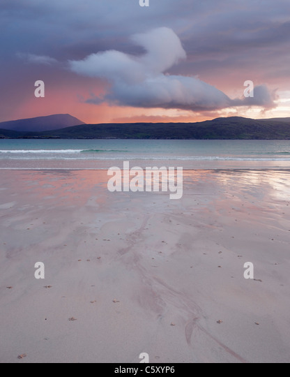 Cloud above Balnakiel Bay, near Durness, Sutherland, Highland, Scotland, UK. - Stock Image