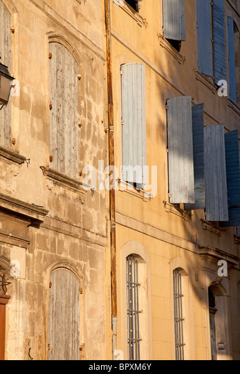 windows in small French town - Stock-Bilder