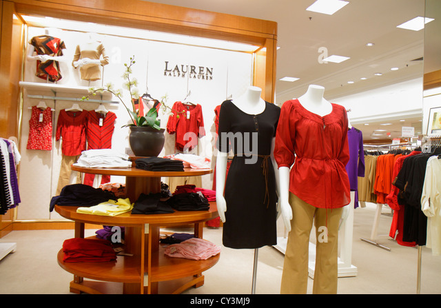 Rhode Island Providence Providence Place Mall shopping Macy's department store retail display for sale women's - Stock Image