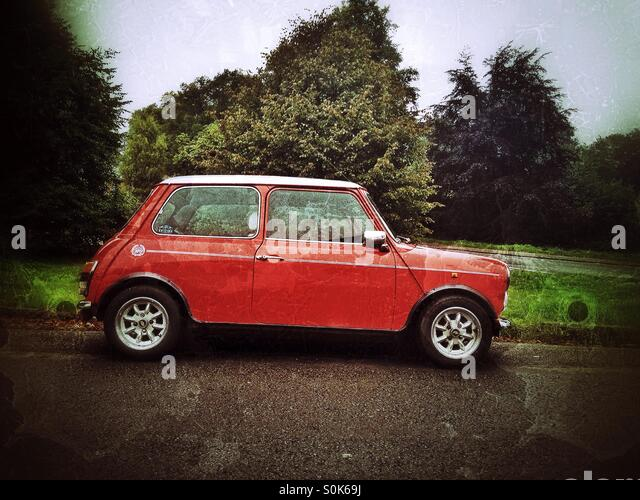 Red Mini car - Stock Image