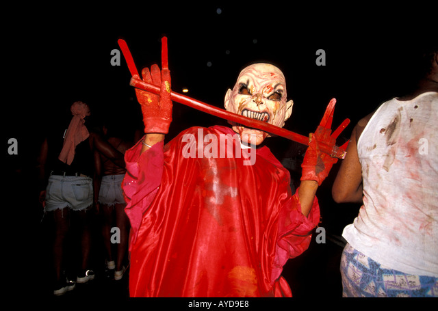 Trinidad Carnival Devil Jouvert Morning - Stock Image