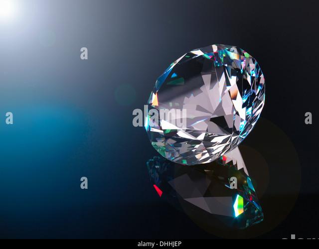 Diamond, close up - Stock Image