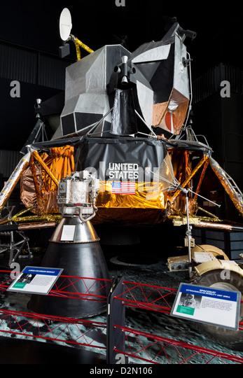 Lunar Module, United States Space and Rocket Center, Huntsville, Alabama, United States of America, North America - Stock Image