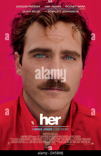 HER (POSTER) (2013) JOAQUIN PHOENIX SPIKE JONZE (DIR) MOVIESTORE COLLECTION LTD - Stock Image
