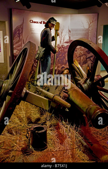 Exhibit in the Visitor Center at Stones River National Battlefield - Stock Image