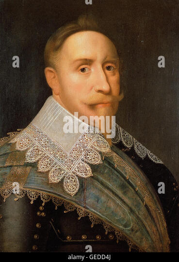 Attributed to Jacob Hoefnagel - Gustavus Adolphus, King of Sweden 1611-1632 - Stock Image